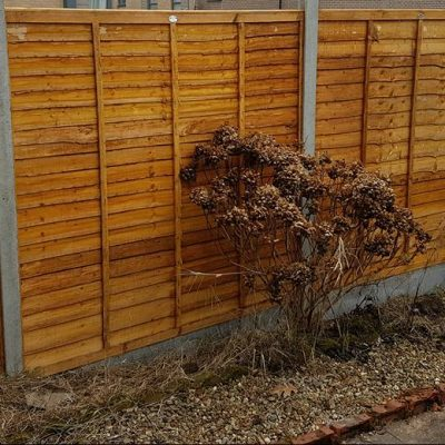 Replacement Fencing Job in Southampton February 2017
