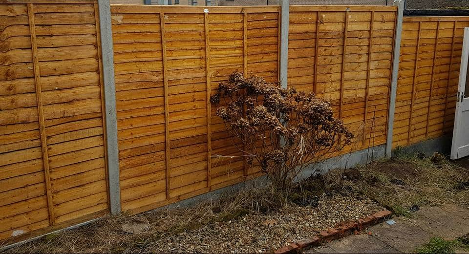 Concrete Post & Gravel Boards with Panel Fencing Completed Replacement Fencing Job in Southampton