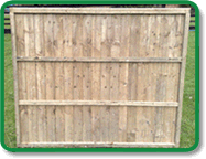 Feather Edge Fence Panel Example