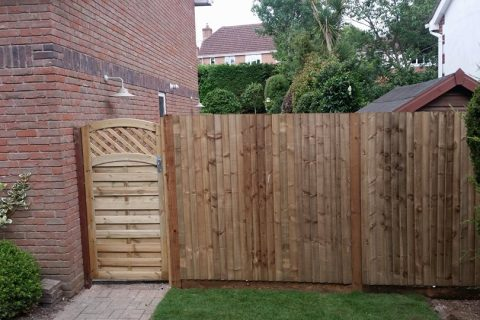 New Closeboard Fencing with a Continental Gate
