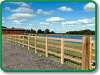 Agricultural Post and Rail Fencing Example