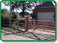 Decorative Post and Rail Fencing Example