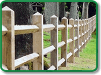 Post and Rail Fencing Example