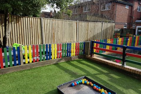 Closeboard Fencing for Pixies Day Nursery in Woolston, Southampton