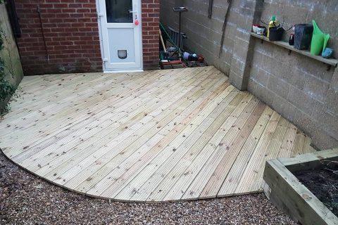 Garden Decking Repair and Replacement for an Eastleigh Garden