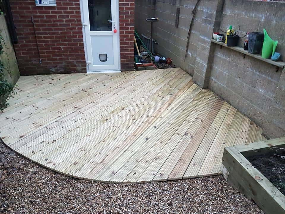 Garden Decking after its replacement